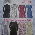 New Look Sewing Pattern 6681 Easy 8 Dress Styles Short or Long Sleeves 8 10 12 14 16 18