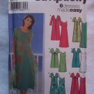 Easy New Simplicity Sewing Pattern 5551 Misses 14 16 18 20 6 Summer Dresses & Over Dress Duster