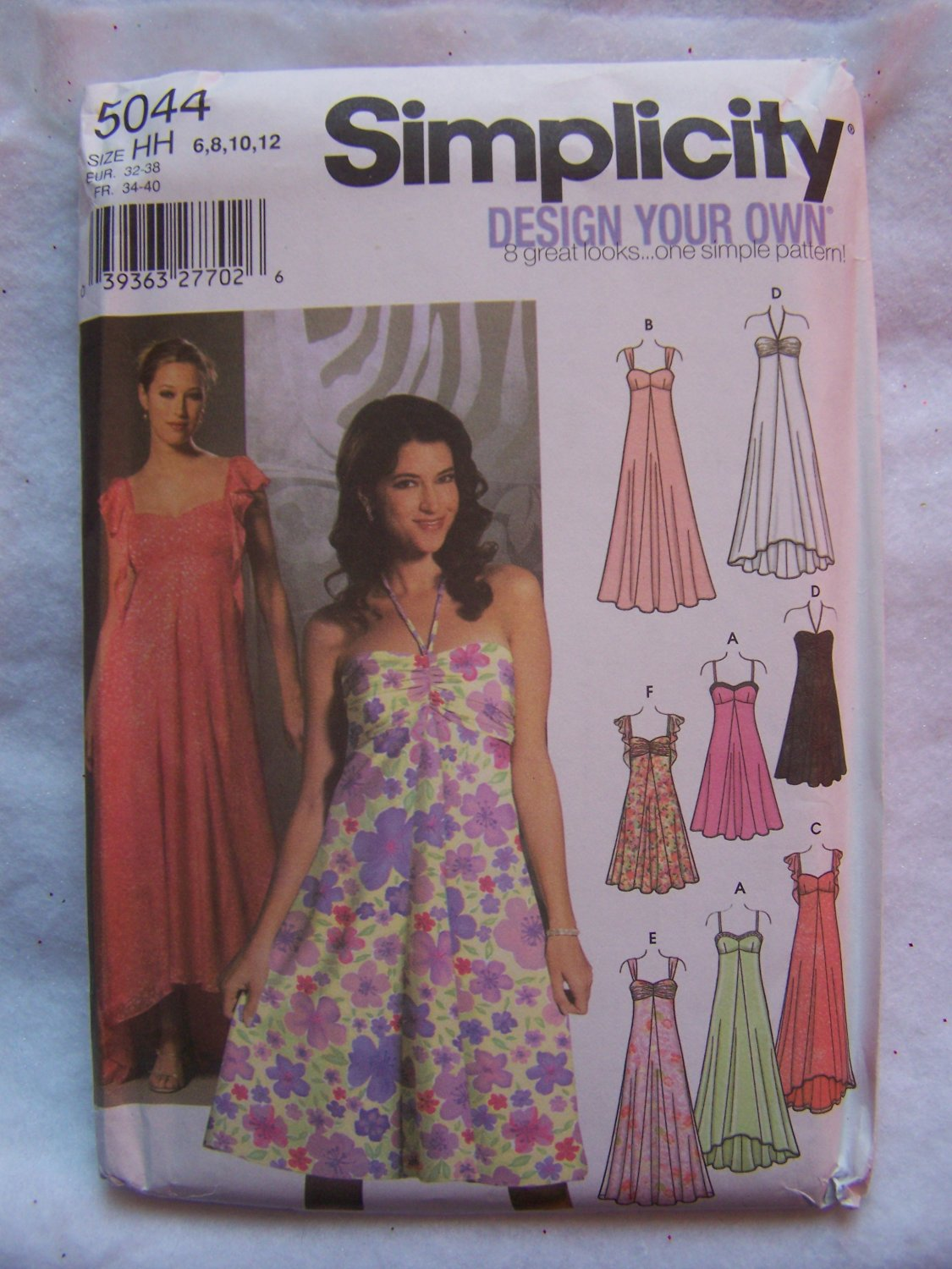 Simplicity Sewing Pattern 5044 Design An Evening Gown Cocktail Dress 6 8 10 12