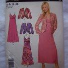 Uncut Simplicity Sewing Pattern 4214 Spaghetti Strap Empire Waist Dress & Jacket 10 12 14 16 18 20