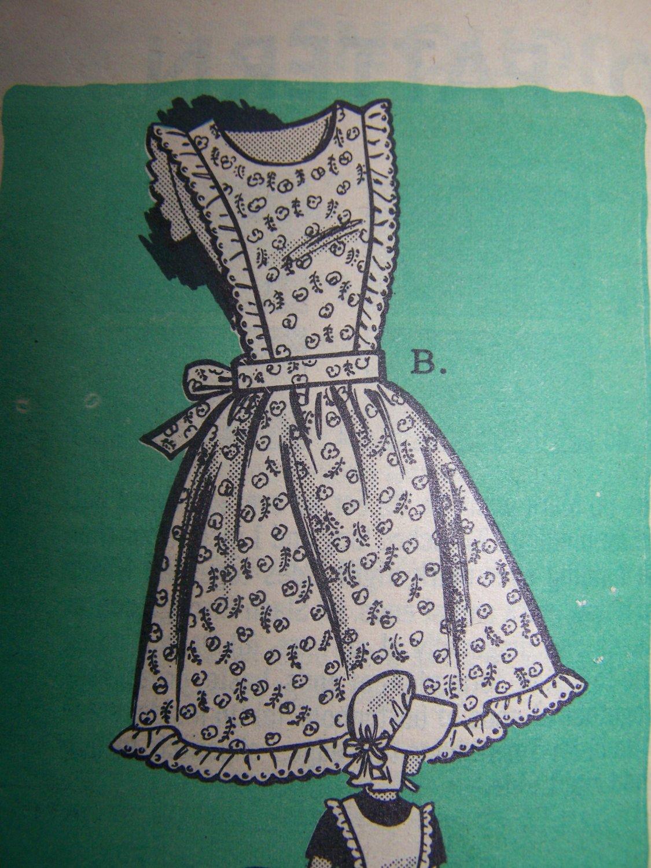Vintage Mail Order Sewing Pattern Misses Large 18 20 Apron 9077