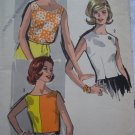 60s Vintage Easy Advance Sewing Pattern 3 Juniors Girls Summer Tops Blouses Shirts Sz 9 XXS XS