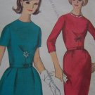 Uncut 1960s Vintage Simplicity Sewing Pattern 5663 Jr Dress A Line or Wiggle Skirt XXS XS S