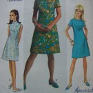 Vintage 60s Junior Teen XXS XS S Mod A Line Princess Dress Simplicity Sewing Pattern 7459