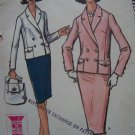 Vintage 60's McCall's Sewing Pattern 7117 Jackie O Suit Dbl Breasted Jacket Slim Skirt Sz 10