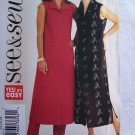 Uncut Easy Sewing Pattern 3883 Misses 14 16 18 Long A line Dress Elastic Waist Slim Pants