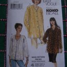 Uncut Vogue Sewing Pattern 7725 KOKO Designer Button Up Loose Tunic Shirts Tops 8 10 12