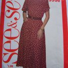 New Vintage Sewing Pattern 5538 Misses XS S M Pullover Flared Blouson Dress