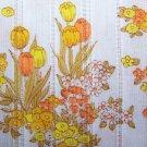 Vintage Styleset Cotton Fabric Gold Yellow Orange Floral Tulips