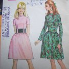 60s Vintage Sewing Pattern 9481 Misses Dress Fitted Bodice Cummerbund Sz 10