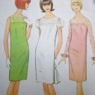 Uncut 1960s Vintage Dress Sewing Pattern 8262 Teens Slim Sheer Yoke Long or Short Puff Sleeves