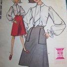 Uncut 60s Misses Bust 32 Tom Jones Shirt A Line Skirt Sewing Pattern 7378