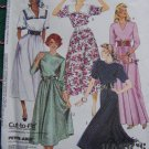 New Vintage Sewing Pattern 4707 Misses 8 10 12 Mid Calf Or Maxi Dresses Neck Variations