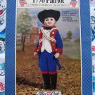 Vintage Fibre Craft Doll Costume Crochet Clothes Pattern 1776 Patriot FCM203