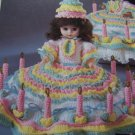 Fibre Craft Doll Clothes Crochet Pattern Birthday Girl Music Box or Pillow Doll FCM210