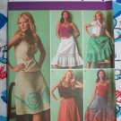 New Sewing Pattern 4235 Set of 5 Skirts A Line Full Ruffle Mexican 6 8 10 12