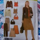 Uncut Simplicity Sewing Pattern 4951 Womens Dress Suit Pants Skirt Jacket Purse 12 14 16 18 20