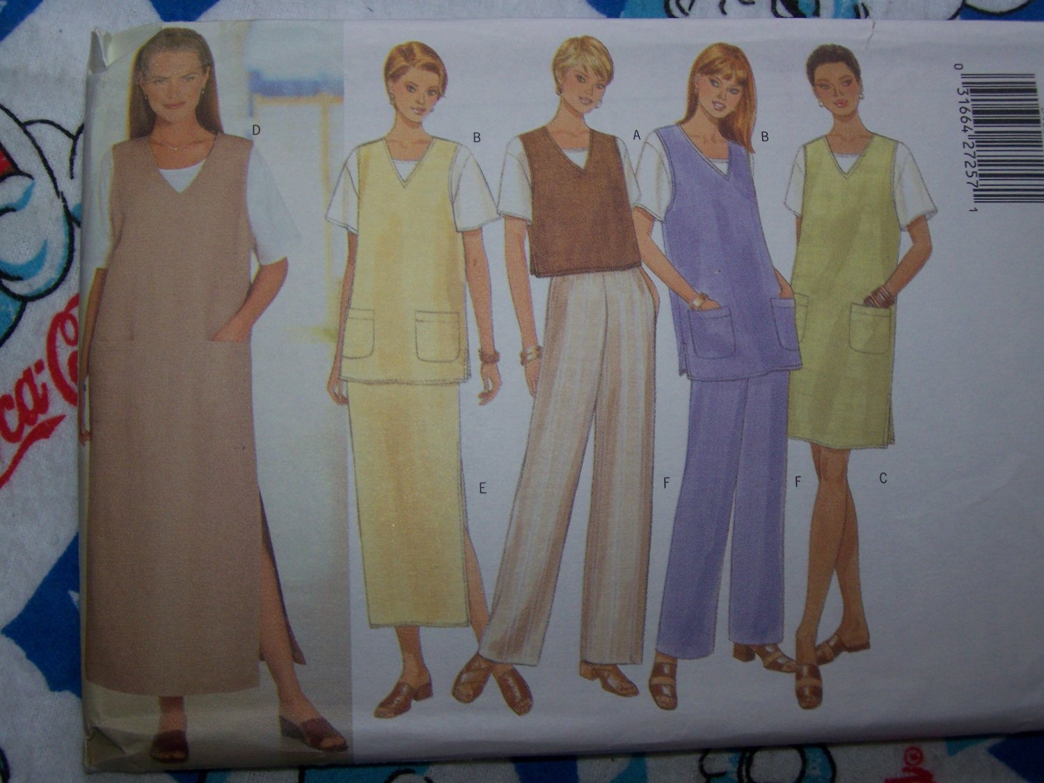 Free USA S&H NEW Sewing Pattern 5468 Plus Size 18 20 22 Vest Jumper Dress Tunic Top SKirt Pants