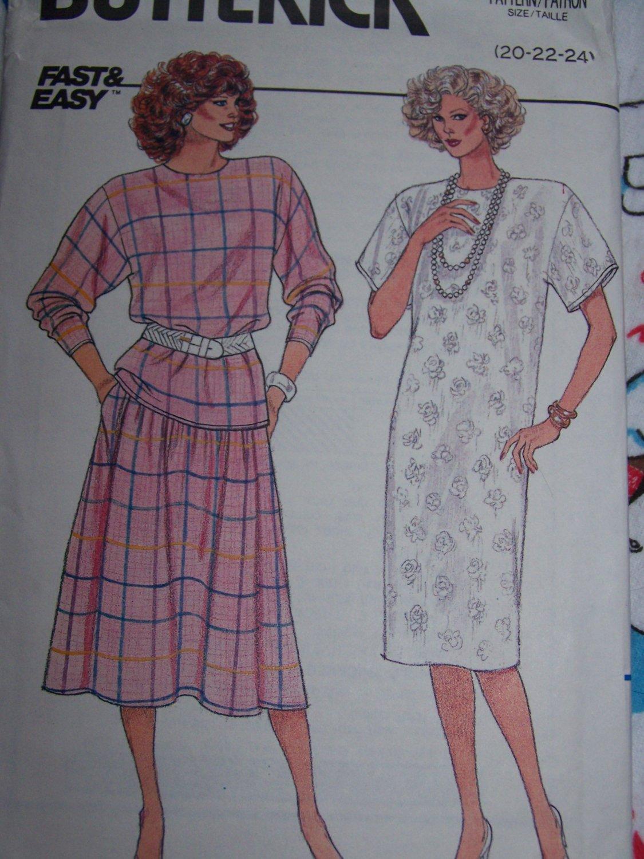 Uncut Plus Size Vintage Sewing Pattern 3670 Womens Slim