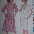 Uncut Plus Size Vintage Sewing Pattern 3670 Womens Slim Pullover Dress Top Flared Skirt 20 22 24