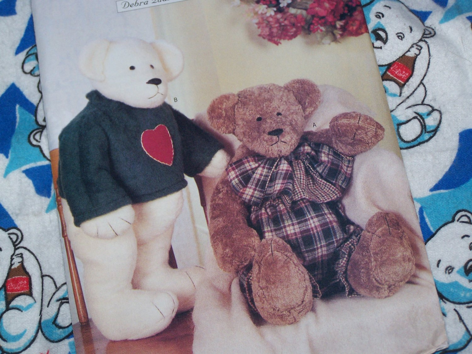 Uncut Butterick Craft Sewing Pattern 6853 Stuffed Fur Teddy Bear & Clothing