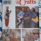 Uncut Sewing Patterns 7 Styles of Purses HandBags Tote Bags Back Pack Lunch 8852
