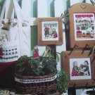 1990s Cross stitch Patterns 4 Country Gardening Girls Leisure Arts Leaflet 913