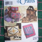 Uncut Simplicity Craft Pattern Machine Paper Piecing Instructions Tote Hairclips Handbag Pouch