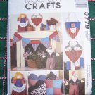 Uncut Crafts Sewing Pattern 3779 Patriotic July 4th Party Decorations DIY Uncle Sam Doll Flag Banner