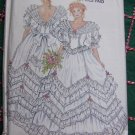 New Look Vintage Sewing Pattern 6360 Wedding Dress Frilly Lace V Back Puff Slv Gown 8 10 12 14 16 18