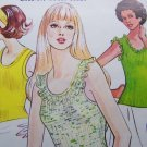 Vintage 70s Kwik Sew Sewing Pattern 602 Ruffle Sleeveless Summer Tank Tops  6 8 10 12 14 16 18