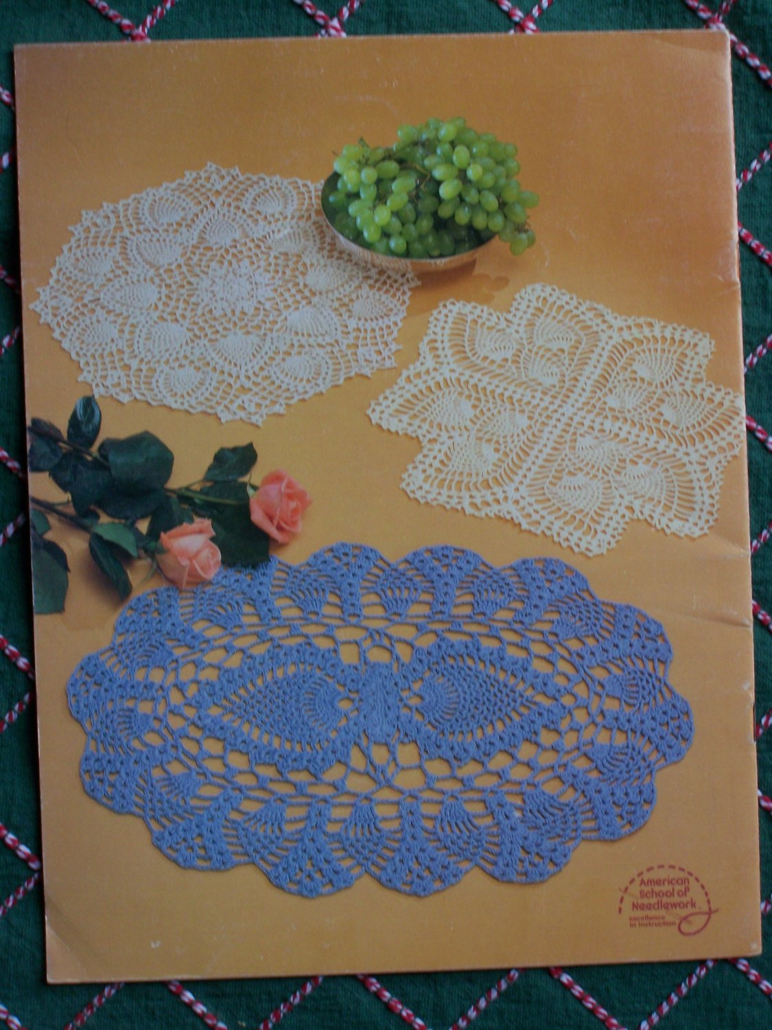 Vintage Boye 12 Pineapple Crochet Patterns Book By Rita Weiss