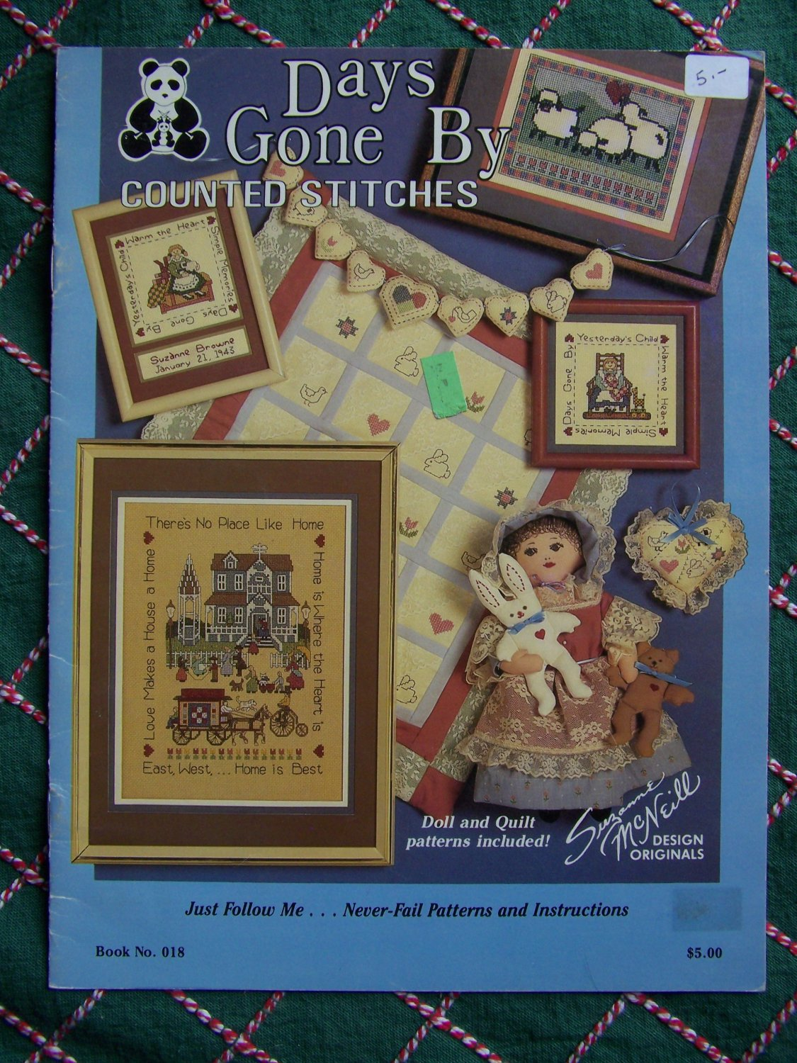 Vintage Country Counted Cross Stitch Patterns Folk Primitive Quilt Victorian Dolls