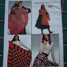Vintage Easy Learn to Crochet Book 210 Beginner Patterns Purse Belt Poncho Skirt Shawl +