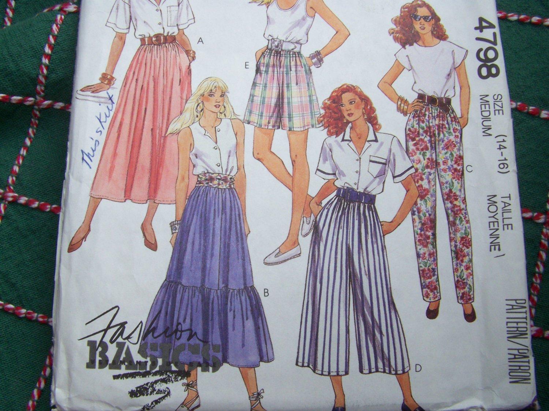 uncut vintage sewing pattern 4798 misses summer elastic