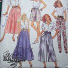 Uncut Vintage Sewing Pattern 4798 Misses Summer Elastic Waist Skirts Pants Culottes Shorts