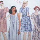 Uncut 1990s Sewing Pattern 8041 Misses Pullover Summer Dress Short Sleeves Sleeveless 10 12 14