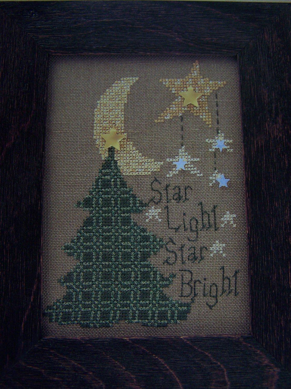 1997 Mill HIll Cross Stitch Pattern Star Light Star Bright On the Prairie
