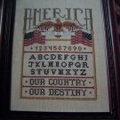 1994 American Sampler Cross Stitch Pattern Eagle Flag In God We Trust