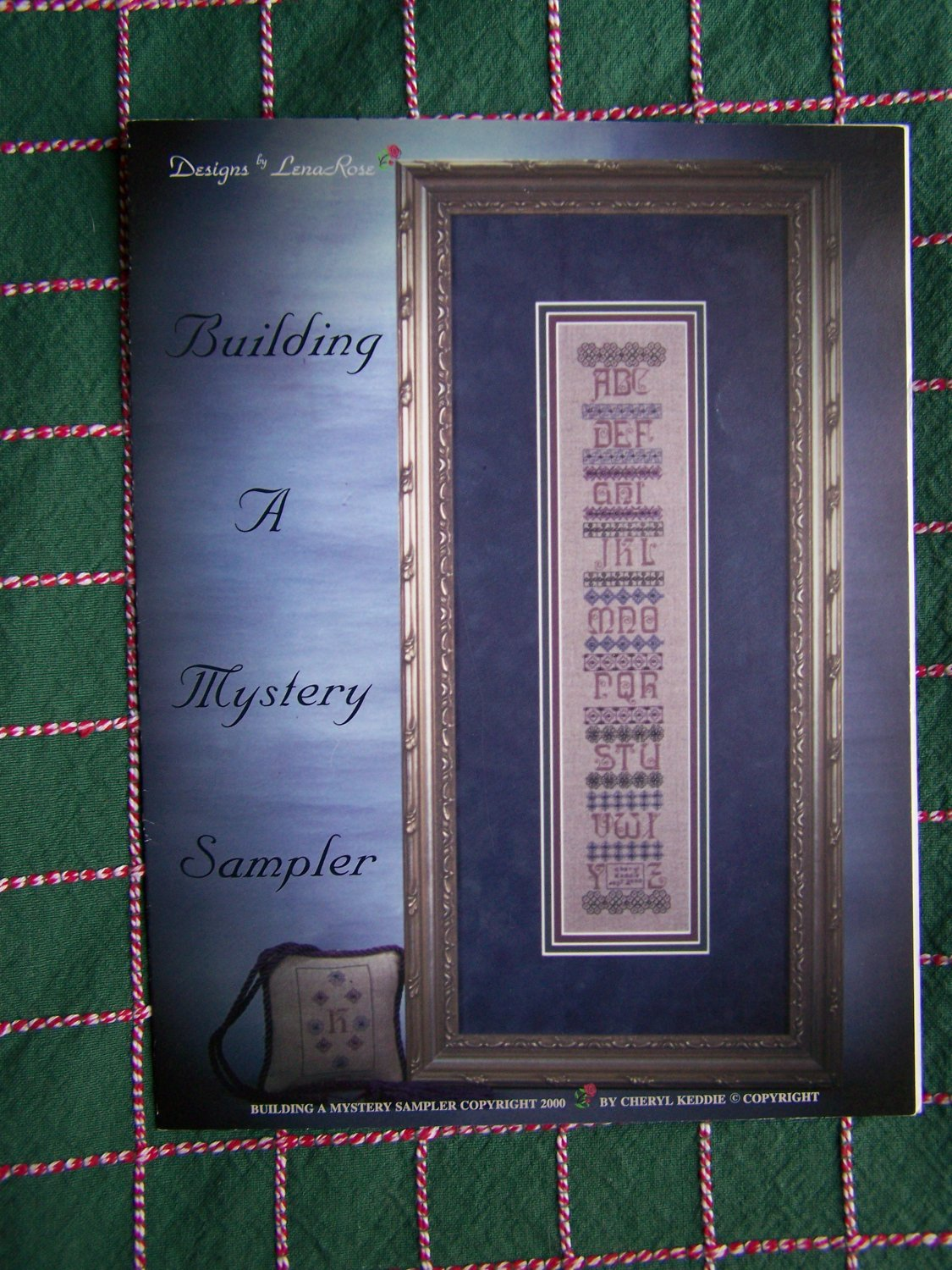 New Lena Rose Cross Stitch Pattern Building a Mystery Sampler Designer Signed Autographed Note