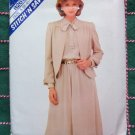 Vintage Uncut 80s Sewing Pattern 8269 Misses Jacket & Flared Dress Tie Vent Collar 8 10 12
