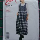 New 90s Sewing Pattern 8320 Misses Pullover Empire Jumper Dress Scoop Neck 4 6 8 10 12 14