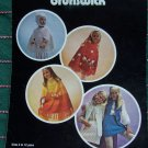 Vintage Brunswick Leaflet 7102 Knitting & Crochet Patterns Toddler - Teens Poncho Helmet Skirt Vest