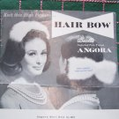 1 Cent USA S&H Vintage Bucilla Knitting Pattern Angora Hair Bow Wedding Hairpiece