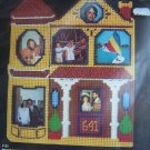 New Dimensions Victorian House Photo Holder Plastic Canvas Needlepoint Craft Kit