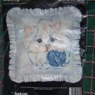 New Janlynn Kitten and Yarn Pillow Cat Printed Cross Stitch Craft Kit 80-124