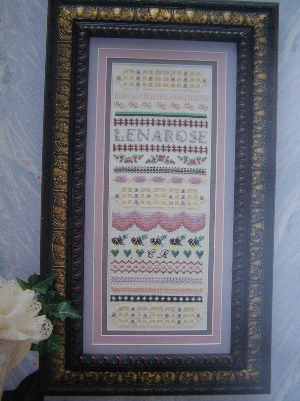 New 1999 Lenarose Chart Pattern Hardanger Embroidery Sampler Needlepoint