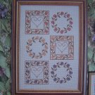 New Cinnamom Heart Needleworks Tea Flowers Cross Stitch Embroidery