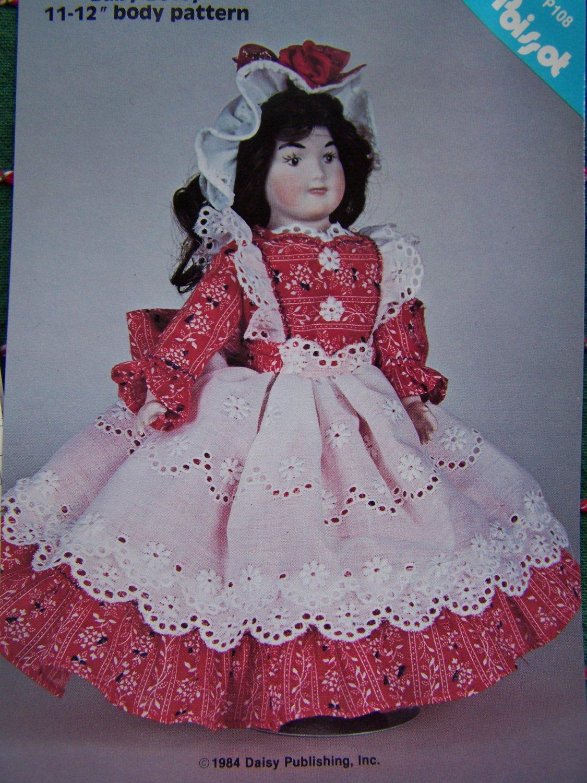USA 0 S&H Vintage Sewing Pattern Doll Dress & Hat DPP108 Poissot 11 - 12 Inch Dolls