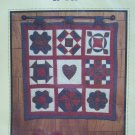 Free usa s&h Vintage Patterns Country Sampler Quilt Wall Hanging Pillow Hotpads